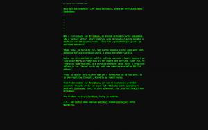 Screenshot: písanie tohto príspevku v editore WriteRoom